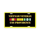USS Providence Aluminum License Plate