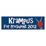 Krampus for President 2012 bumper sticker