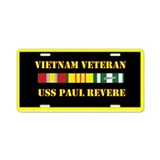 USS Paul Revere Aluminum License Plate