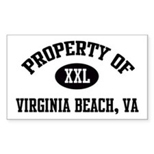 Property of Virginia Beach Rectangle Decal