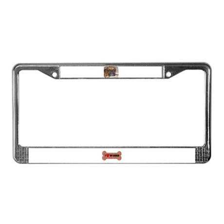 BOXER PUPPY LOOK License Plate Frame