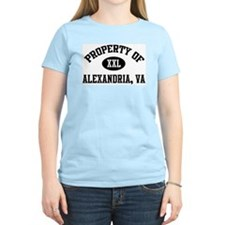 Property of Alexandria Women's Pink T-Shirt