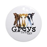 Greys Fan Funny Ornament (Round)