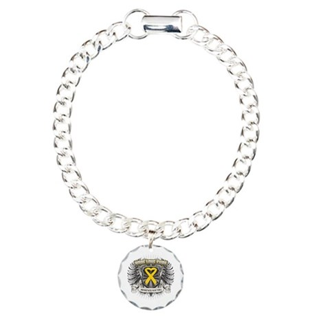 Child Cancer Hope Love Charm Bracelet, One Charm
