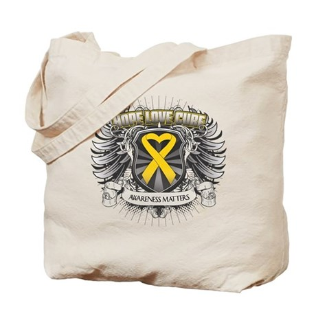 Child Cancer Hope Love Tote Bag