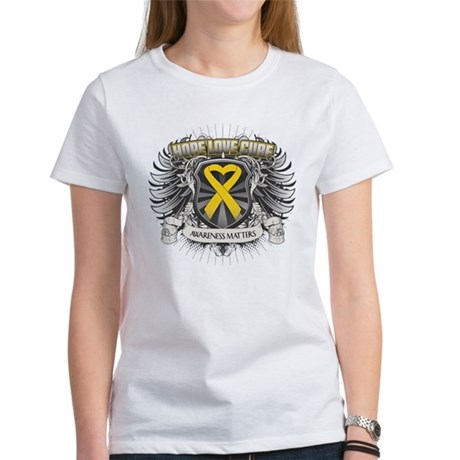 Child Cancer Hope Love Women's T-Shirt