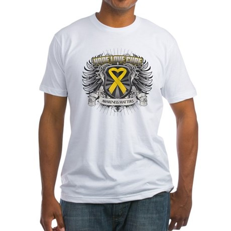 Child Cancer Hope Love Fitted T-Shirt