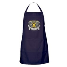 Child Cancer Hope Love Apron (dark)