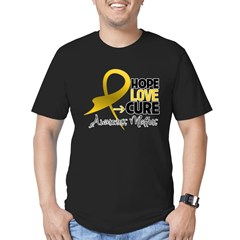 Childhood Cancer Hope Men's Fitted T-Shirt (dark)
