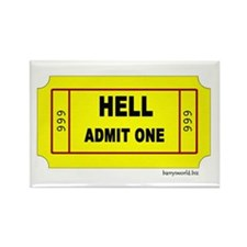 Ticket to Hell2 Rectangle Magnet (100 pack)