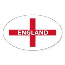 England Oval Decal