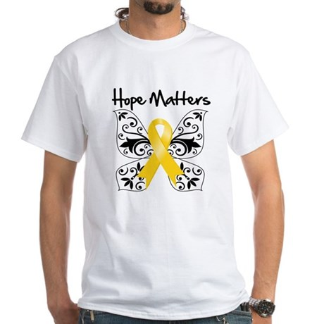 Hope Matters Child Cancer White T-Shirt