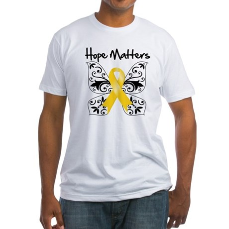 Hope Matters Child Cancer Fitted T-Shirt