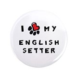 "I *heart* My English Setter 3.5"" Button (100 pack)"