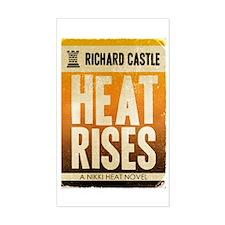 Castle Heat Rises Retro Sticker (Rectangle)