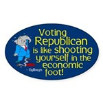 Voting Republican oval bumper sticker