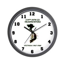 219th AVN HEADHUNTERS 67-68 Wall Clock