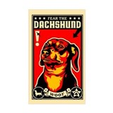 Fear the DACHSHUND! propaganda Decal