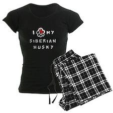 I *heart* My Siberian Husky Pajamas