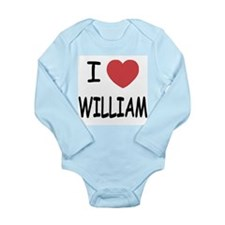 I heart william Long Sleeve Infant Bodysuit