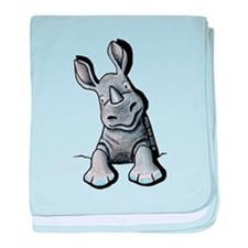 Pocket Rhino baby blanket