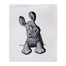 Pocket Rhino Throw Blanket