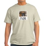 IT'S BEEN A LONG DAY (BOXER LOOK) Ash Grey T-Shirt