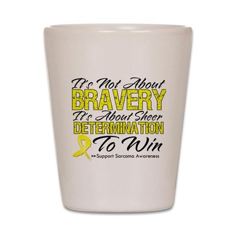 Sarcoma Bravery Shot Glass