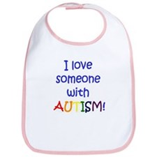 I love someone with AUTISM Baby Bib