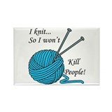 I knit Rectangle Magnet (10 pack)