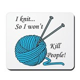 I knit Mousepad