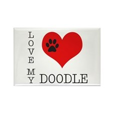 Love My Doodle Rectangle Magnet (10 pack)