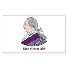 King George III Rectangle Decal
