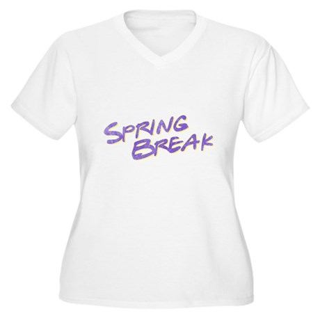 Spring Break Plus Size V-Neck Shirt