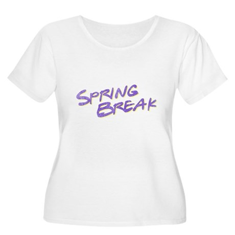 Spring Break Plus Size Scoop Neck Shirt