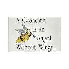 Grandma Angel Rectangle Magnet