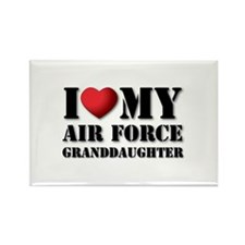 Air Force Granddaughter Rectangle Magnet (10 pack)