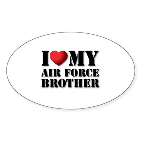 Air Force Brother Oval Sticker