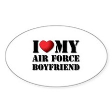 Air Force Boyfriend Oval Decal