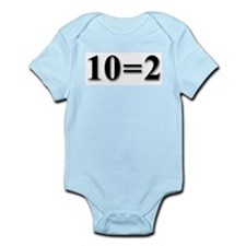 """""""Two Equals Two"""" Infant Creeper"""
