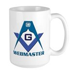 Gift for the Masonic webmaster Large Mug