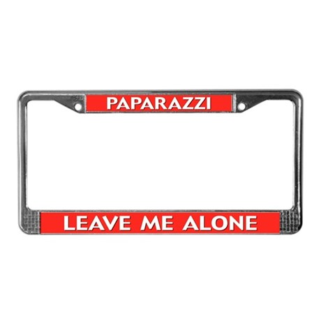Paparazzi Leave Me Alone License Plate Frame