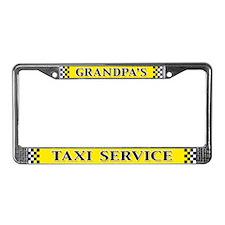 Grandpa's Taxi Service License Plate Frame