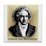 Classical Composers Tile Coaster