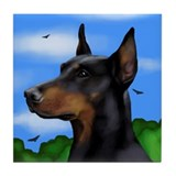 DOBERMAN PINSCHER DOG Tile Coaster