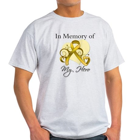 In Memory Childhood Cancer Light T-Shirt
