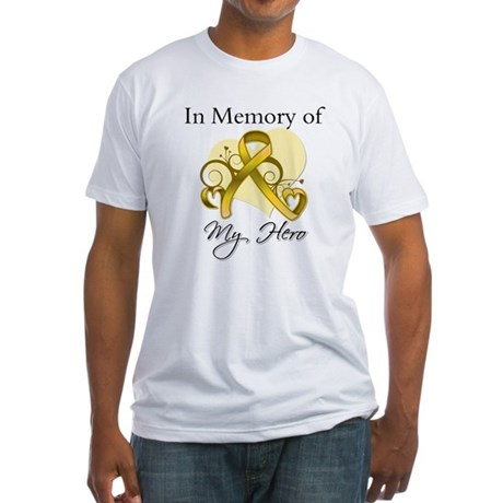 In Memory Childhood Cancer Fitted T-Shirt