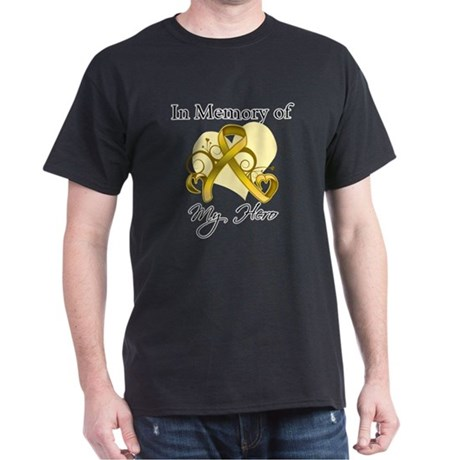 In Memory Childhood Cancer Dark T-Shirt