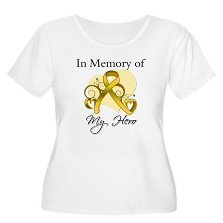 In Memory Childhood Cancer Women's Plus Size Scoop