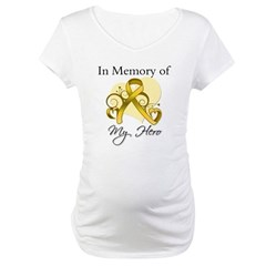 In Memory Childhood Cancer Maternity T-Shirt
